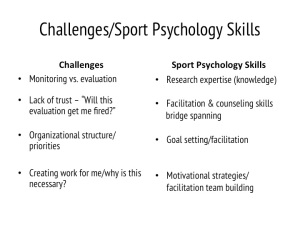 Challenges in program evaluation and sport psychology skills that can be applied