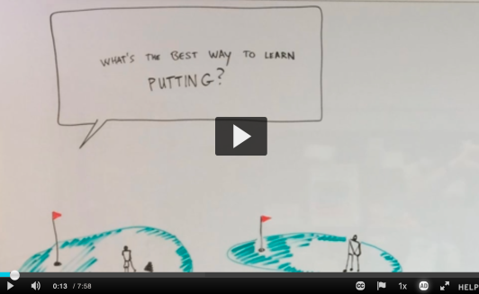 Screenshot of a video about skill acquisition